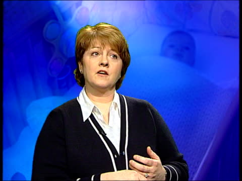 calls for investigation review anne diamond interviewed on need for sympathy sot jenny tegetmeier sitting with pictures of her dead babies nat - anne diamond stock videos & royalty-free footage