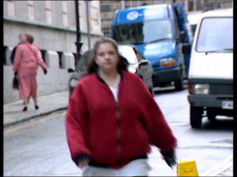 stockvideo's en b-roll-footage met criminal cases to be reviewed lib yeovil donna anthony towards along street - yeovil