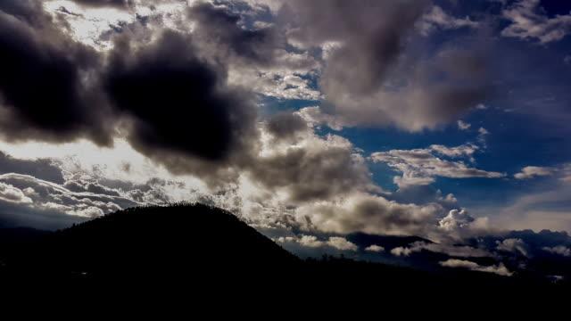 cotacachi volcano in otavalo ecuador timelapse