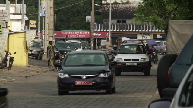 cotonou street scene - benin stock videos and b-roll footage