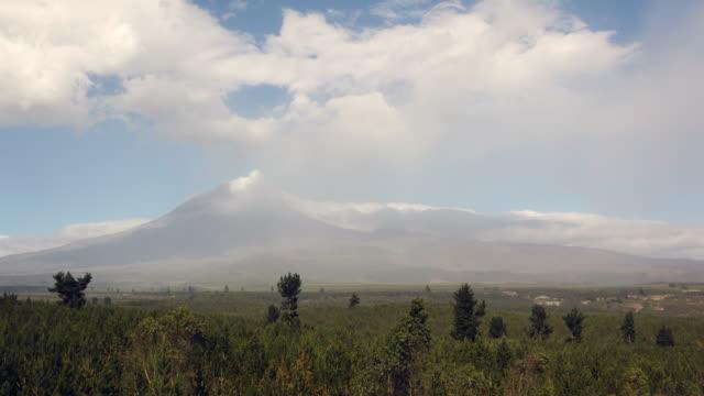 cotopaxi volcano, ecuador erupting on the 18th of august 2015. - ecuador stock videos & royalty-free footage