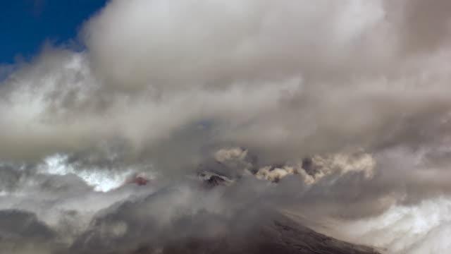 cotopaxi volcano, ecuador erupting on the  28th of august 2015 - ecuador stock videos & royalty-free footage