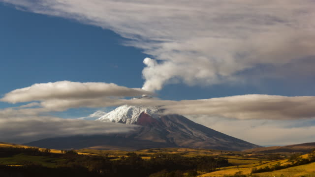 cotopaxi volcano, ecuador erupting on the  8th of october 2015 - ecuador stock videos and b-roll footage