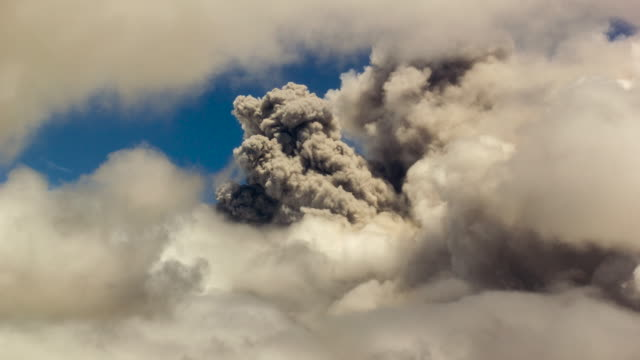 Cotopaxi Volcano, Ecuador erupting through clouds on the  31st of August 2015