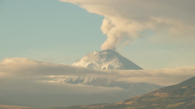 cotopaxi volcano starts eruption process - ecuador stock videos and b-roll footage