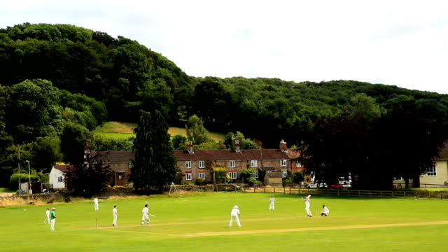 cotswolds stinchcombe england village cricket green players team - english culture stock videos & royalty-free footage