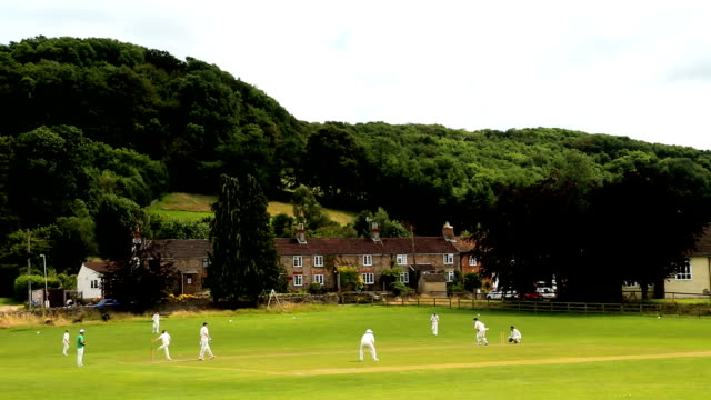 Cotswolds Stinchcombe England Village Cricket green players team