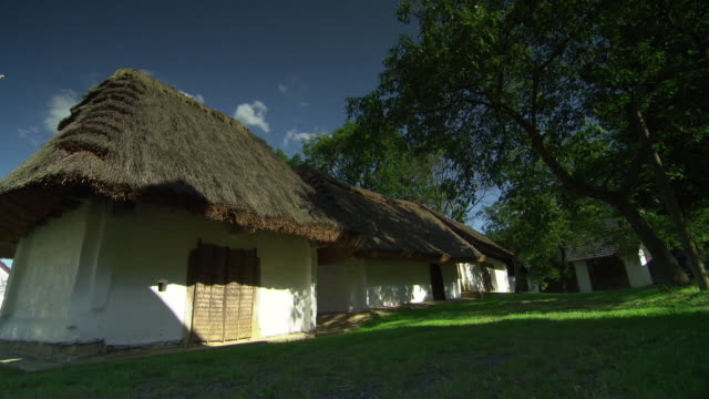 cottage with thatch roof in heiligenbrunn - austria - traditionally austrian stock videos and b-roll footage