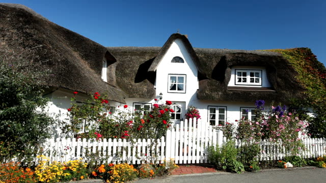 cottage with thatched straw roof - thatched roof stock videos and b-roll footage