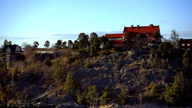 cottages on a rocky island - villa stock videos & royalty-free footage