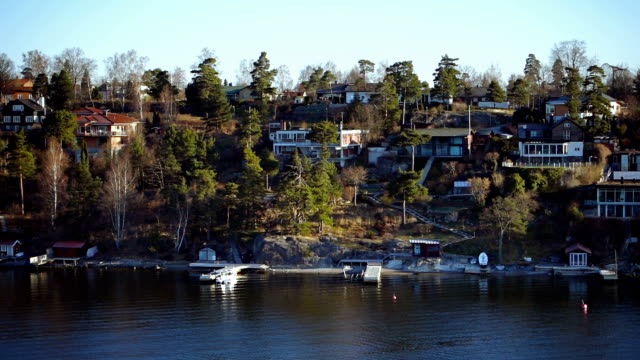 Cottages on a sea island