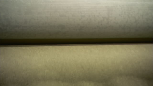 cotton is rolled into thin sheets at a paper mill. - paper mill stock videos & royalty-free footage