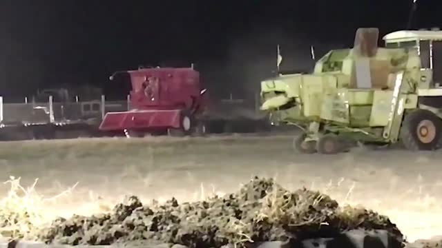 cotton picker and a combine harvester duked it out at a demolition derby that was held as part of the 121st annual... - wood grain stock videos & royalty-free footage