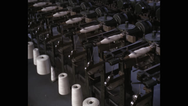 cotton textile production in factory - textile mill stock videos & royalty-free footage