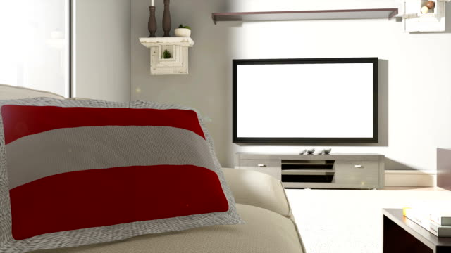 vídeos y material grabado en eventos de stock de sofá y tv con la bandera de austria - cultura austríaca