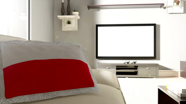 couch and tv with flag of poland - fan enthusiast stock videos & royalty-free footage