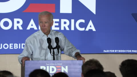 council bluffs, iowa, usa: former united states vice president joe biden campaigns for the democratic nomination for the 2020 united states... - democracy stock videos & royalty-free footage
