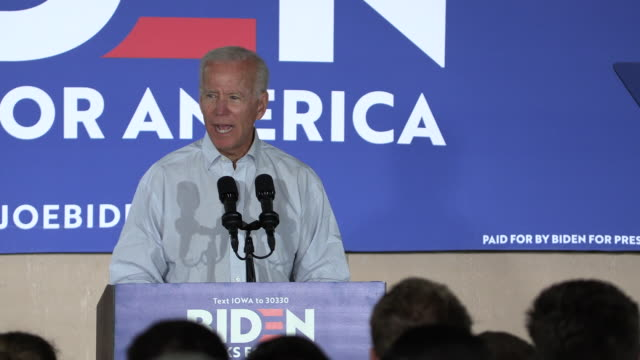 council bluffs, iowa, usa: former united states vice president joe biden campaigns for the democratic nomination for the 2020 united states... - political rally stock videos & royalty-free footage