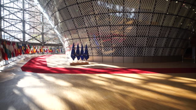 eu council meeting in brussels belgium on thursday june 28 2018 - europäische union stock-videos und b-roll-filmmaterial
