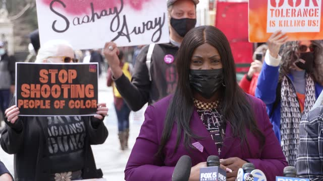 council member vanessa l. gibson. gun control activist and local leaders hold a press conference outside manhattan's city hall to vocalized their... - gun control stock videos & royalty-free footage