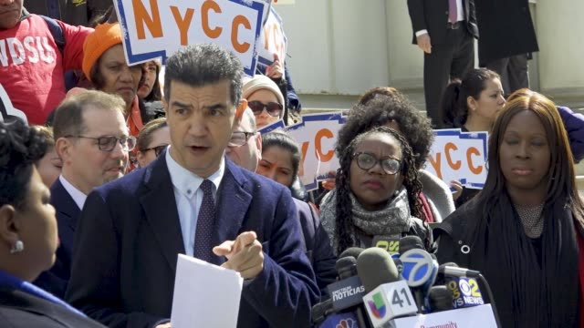 council member ydanis rodríguez. riders alliance and community service society of new york hosted a rally on the steps of new york city hall on... - new year card stock videos & royalty-free footage
