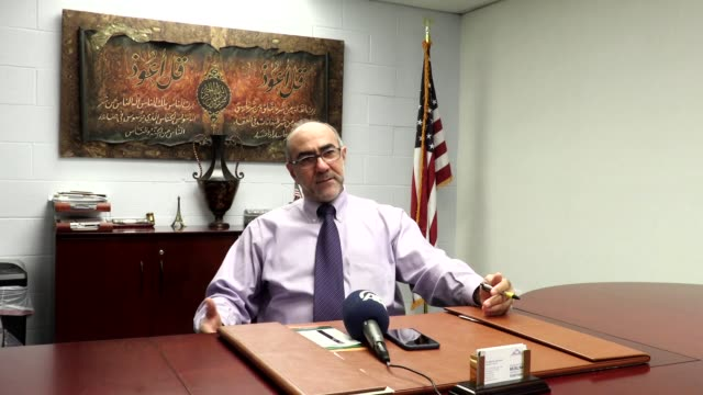 Council of Muslim Organizations Secretary General Oussama Jammal speaks during an exclusive interview in Chicago Illinois USA on October 15 2016