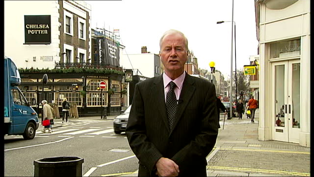 council offers free parking to bring shoppers back to kensington and chelsea; england: london: chelsea: ext reporter to camera king's road with... - sergeant stock videos & royalty-free footage