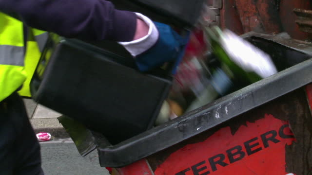 council rubbish collection in newcastle, uk - bin stock videos & royalty-free footage