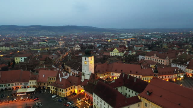 council tower in sibiu - transylvania stock videos & royalty-free footage