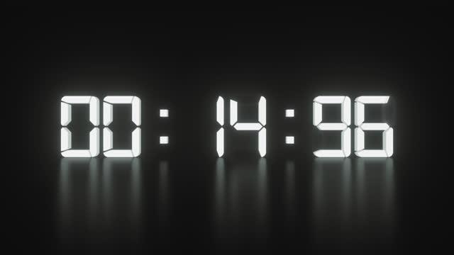 vídeos de stock, filmes e b-roll de coundown - 1 minute or greater