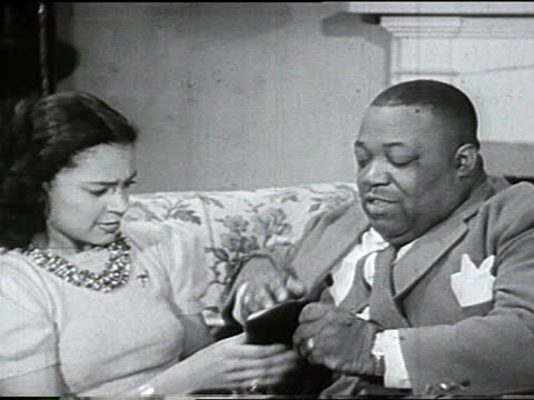 """count basie and orchestra """"take me back baby"""". vs of basie and predominantly adult african american male orchestra playing. jimmy rushing seated in... - dinner jacket stock videos & royalty-free footage"""