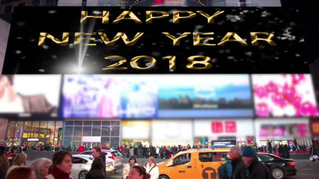 count down happy holidays new year new york times square - happy holidays stock videos & royalty-free footage