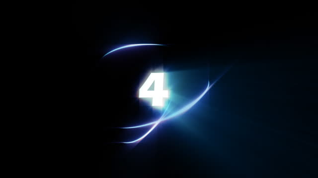 count down number 4 - loopable - number 4 stock videos & royalty-free footage