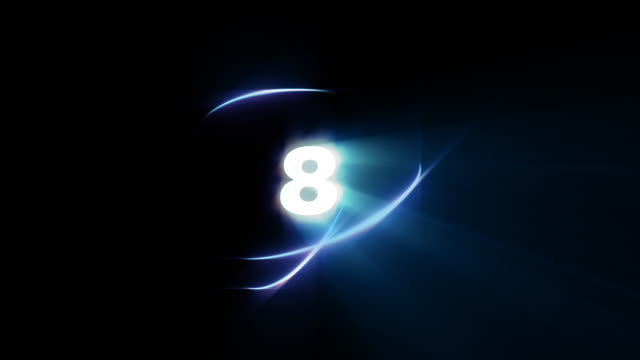 stockvideo's en b-roll-footage met count down number 8- loopable - getal 8