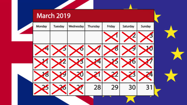 Count down to Brexit on a calendar