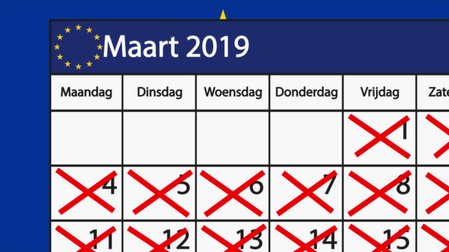 Count down to Brexit on a Dutch calendar