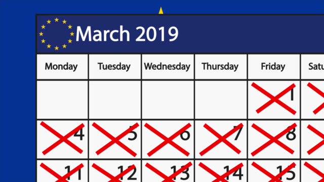 Count down to Brexit on an English calendar