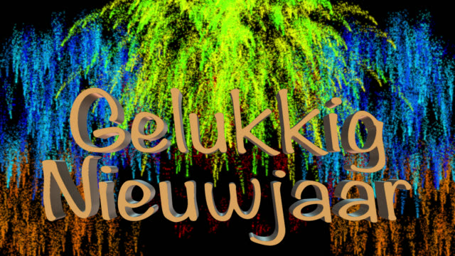 Count down to midnight with New Year greeting in Dutch