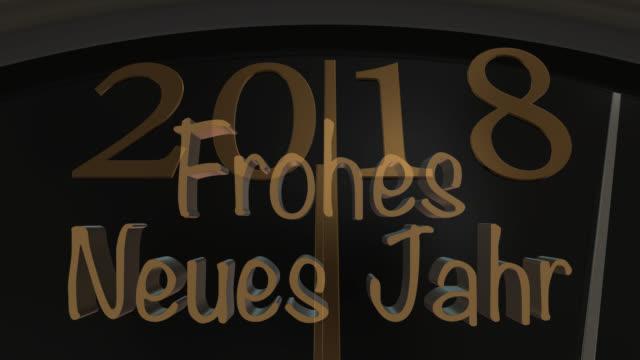 Countdown bis Mitternacht mit neues Jahr Gruß in deutscher Sprache