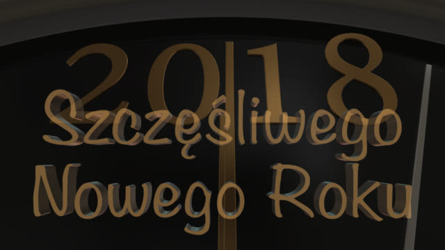 count down to midnight with new year greeting in polish - eastern european culture stock videos and b-roll footage