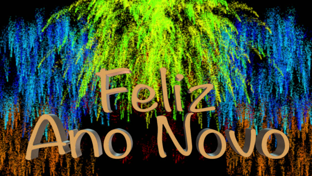 Count down to midnight with New Year greeting in Portuguese
