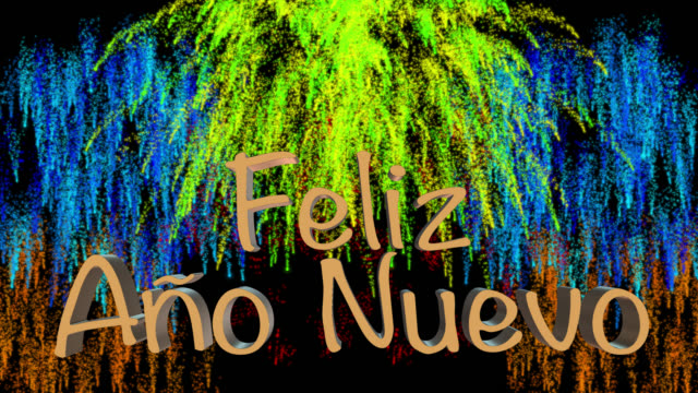 Count down to midnight with New Year greeting in Spanish