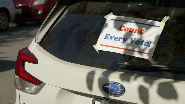count every vote sign in baltimore maryland - subaru stock videos & royalty-free footage