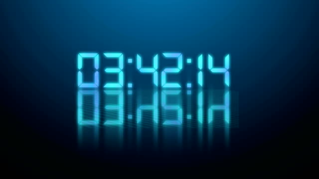 animazione conto alla rovescia 4k - sfondo blu - bright video stock e b–roll