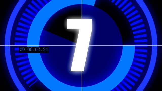 Countdown animation for digital rendering