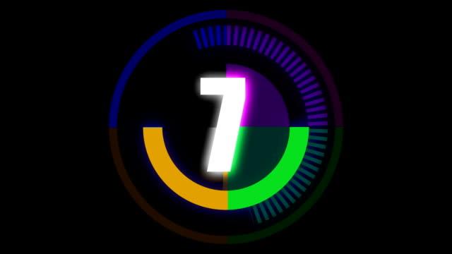 Countdown-animation für digitale Abbildung