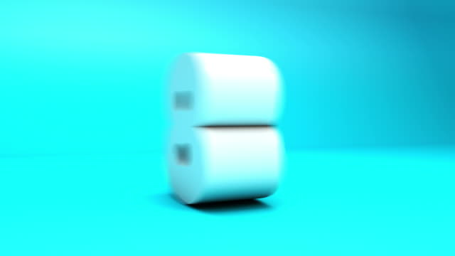 3 d countdown-block-nummern blue (10seconds - 10 seconds or greater stock-videos und b-roll-filmmaterial