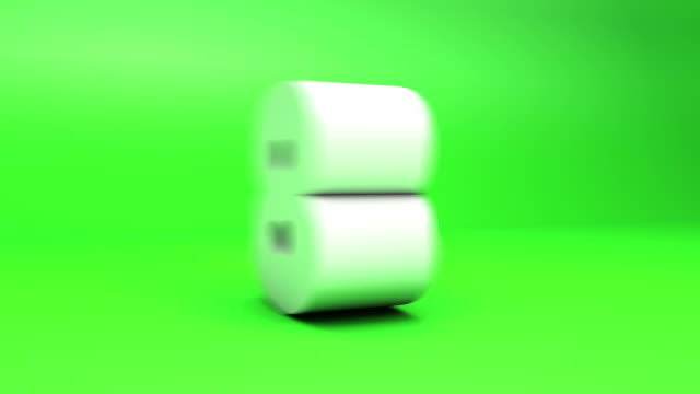 3D Countdown - Block Numbers Green (10seconds)