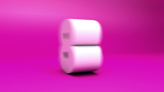 3 d countdown-block-nummern pink (10seconds - 10 seconds or greater stock-videos und b-roll-filmmaterial