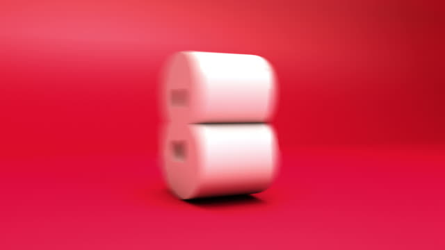 3 d countdown-block-nummern rot (10seconds - 10 seconds or greater stock-videos und b-roll-filmmaterial
